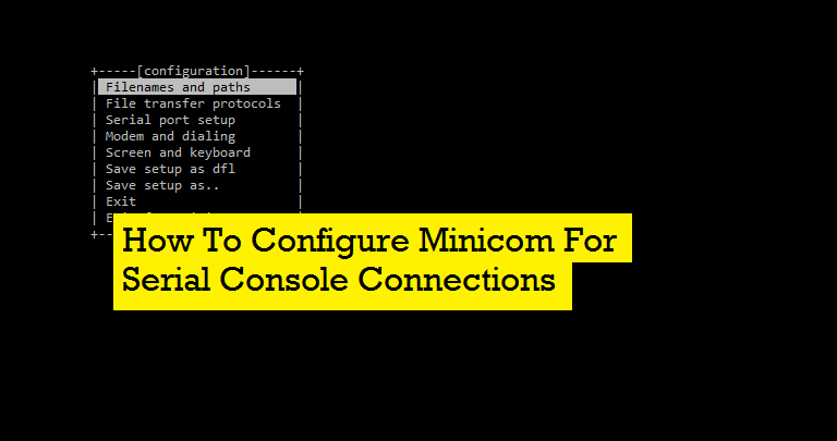 how to setup serial com port