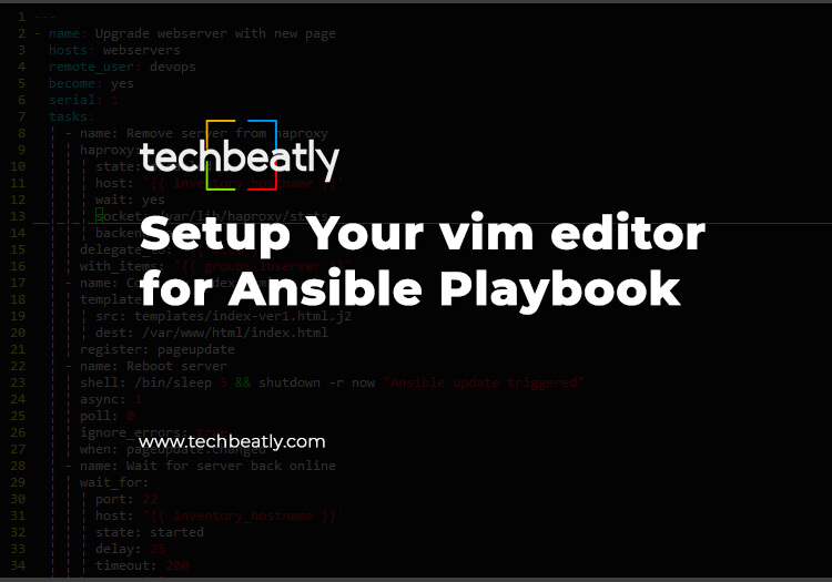 Setup Your vim editor for Ansible Playbook – techbeatly