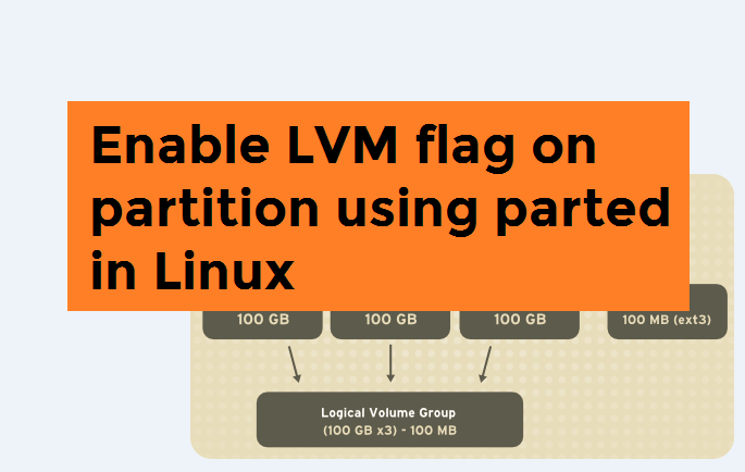 Enable LVM flag on partition using parted in Linux – techbeatly